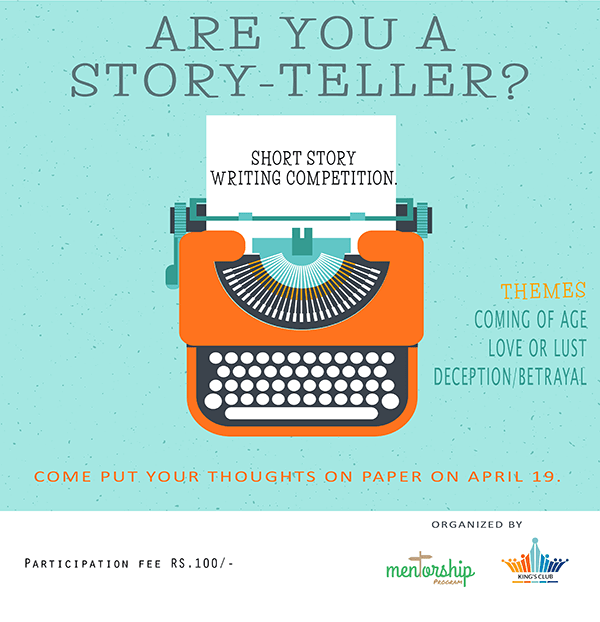 Short Story Writing Competition flyer