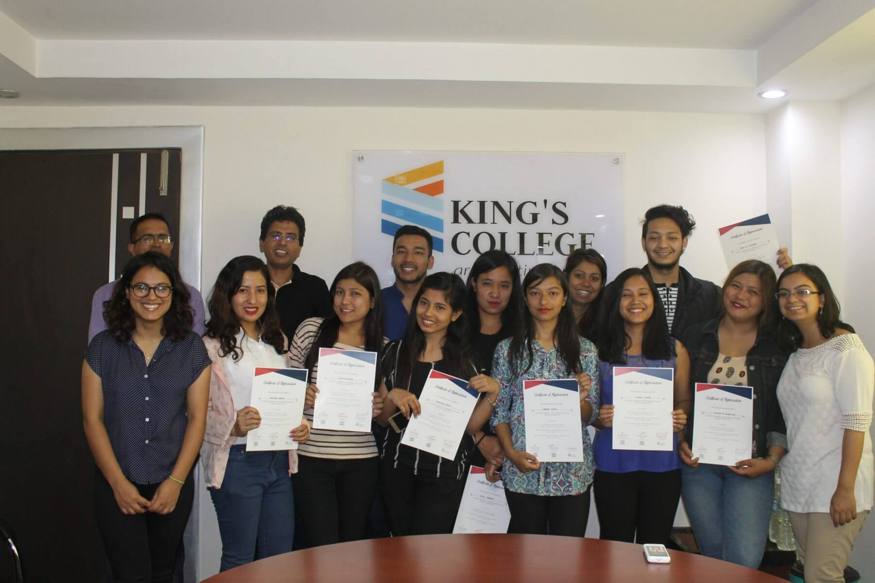 ASER Research Team Receive Certificates