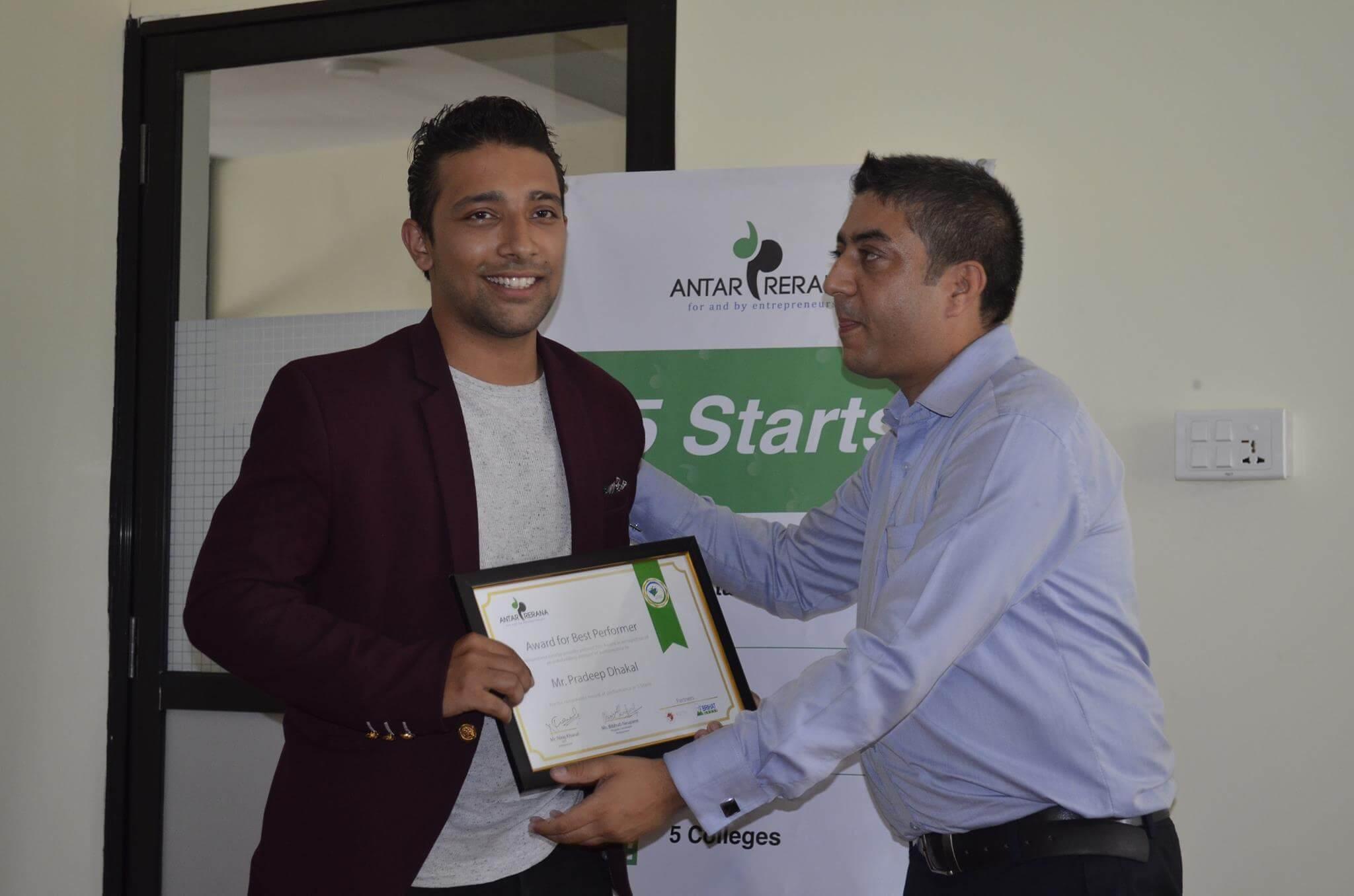 Pradeep and Sushant Win 5 Starts Competition Organized by Antarprerana