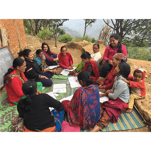 MBA students of King's Learning at field at Gulmi